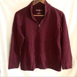 Eddie Bauer 3/4 Zipper Sweater